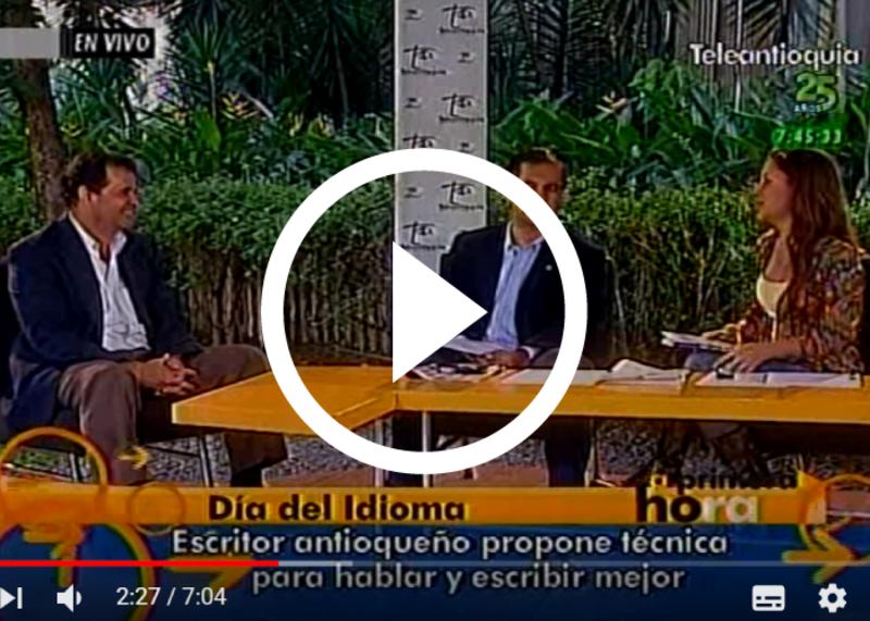 ¡OTRO GRAN ÉXITO! Libro de Oratoria-PAI   Entrevista en el CANAL TELEANTIOQUIA